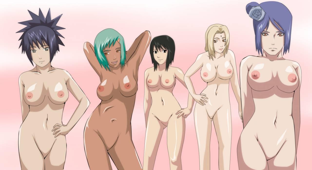 Naruto shippuden girls undressed porn gif
